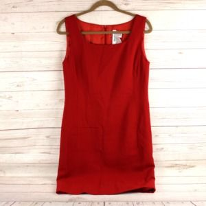 Max Mara 12 Dress Red Virgin Wool Italy
